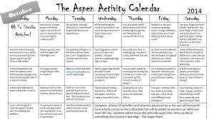 Preview of our October Home Activity Calendar.