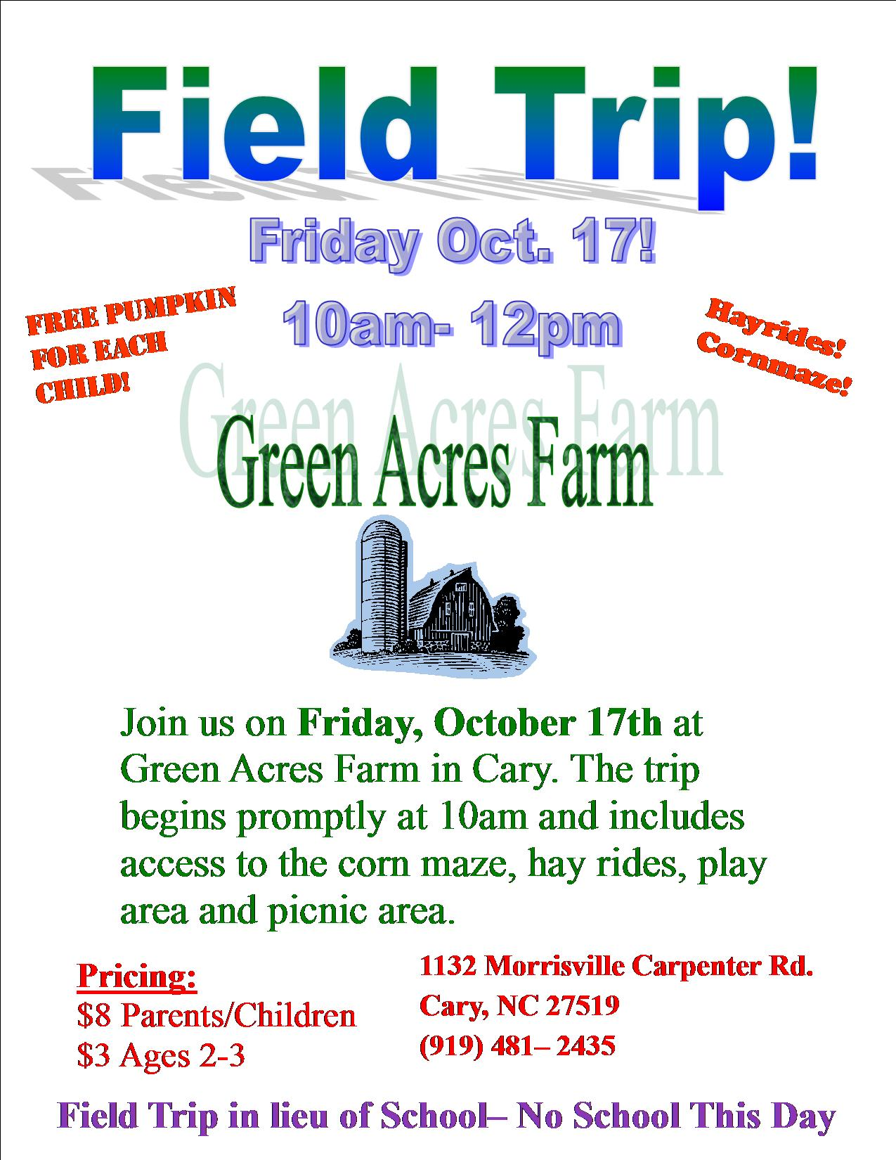 Free field trip flyer template free poster templates pageprodigy.